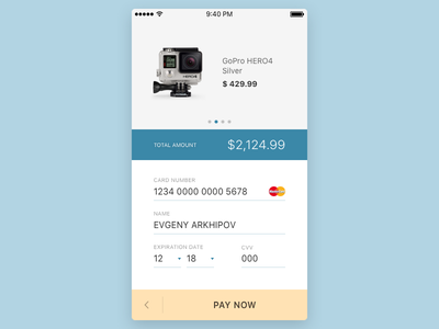 Daily UI #002 — Credit Card Checkout freebie sketch ios pay ecommerce shopping cart credit card checkout dailyui