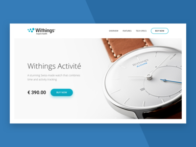 Daily UI #003 — Landing Page (Above the Fold)