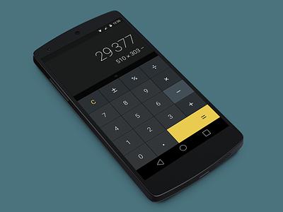 Daily UI #004 — Calculator freebie sketch android ui dark calculator dailyui