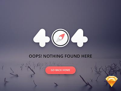 Daily UI #008 — 404 Page web error dailyui page 404 freebie sketch