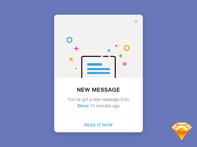 Daily UI #011 — Flash Message pop-up message flash dailyui sketch freebie free