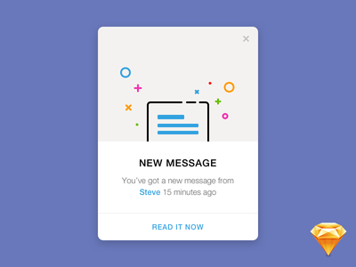 Daily UI #011 — Flash Message pop-up message flash dailyui sketch freebie free