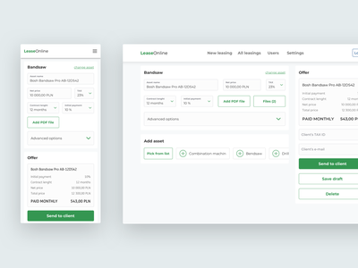 LeaseOnline - Lessor form clear minimalistic minimalist ux ui mobile ui form design process form field input desktop mobile form