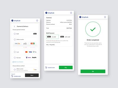 Shophub - BLIK payment payment mobile ux design ecommerce app online cart basket order paymnet ecommerce