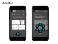 Futuriq - Science Fiction festival mobile app concept