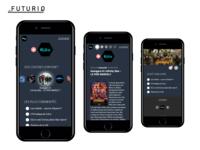 Futuriq - Science Fiction festival mobile app concept