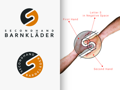 Secondhand Barnklader Logo designer for hire minimalist logo minimalistic minimalist identity graphics design clean icon vector minimal logodesign logo illustration flat design branding