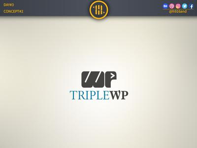 TripleWP minimal icon vector logodesignchallenge logodesign logodesainer logodaily logo illustration flat design branding 30dayslogochallenge 30daychallenge