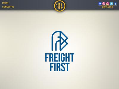 Freight First minimal icon vector logodesignchallenge logodesign logodesainer logodaily logo illustration flat design branding 30dayslogochallenge 30daychallenge