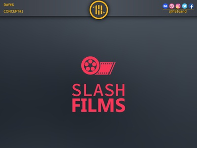 Slash FilmsLogo typography lettering illustrator identity graphics design clean minimal icon vector logodesignchallenge logodesign logodesainer logodaily logo illustration flat design branding 30dayslogochallenge 30daychallenge