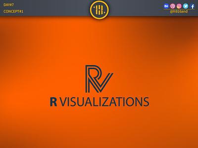 R VisualizationsLogo 1 typography lettering illustrator identity graphics design clean minimal icon vector logodesignchallenge logodesign logodesainer logodaily logo illustration flat design branding 30dayslogochallenge 30daychallenge