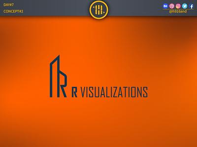 R Visualizations Logo 2. typography lettering illustrator identity graphics design clean minimal icon vector logodesignchallenge logodesign logodesainer logodaily logo illustration design flat branding 30dayslogochallenge 30daychallenge