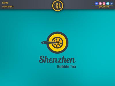 Shenzhen Bubble Tea typography lettering illustrator identity graphics design clean minimal icon vector logodesignchallenge logodesign logodesainer logodaily logo illustration flat design branding 30dayslogochallenge 30daychallenge