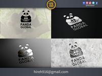 Panda Global Logo logo designer for hire logo designers logo mark minimalist logo design minimalist logo clean design identity illustrator graphics design icon clean vector minimal logodesign logo illustration flat design branding design branding