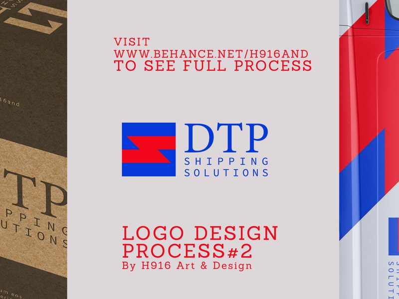 DTP Shipping Solutions Logo design clean vector minimal logodesign logo illustration icon flat design branding