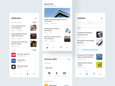 News - Mobile app clean android userinterface mobile app news app mobile minimal simple ios ux ui app design news app