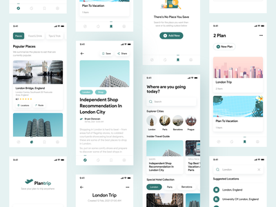 Travel Guide - Mobile app user interface behance ux ui mobile app app mobile clean simple android ios
