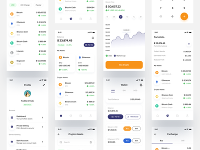 Cryptocurrency - Mobile app crypto uidesign nft cryptocurrency clean android mobile app ui mobile app ios