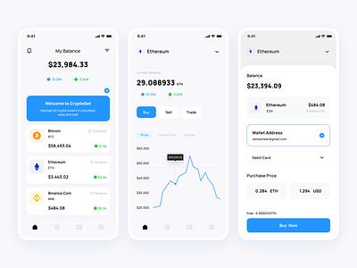 Crypto Exchange ui mobile app simple clean app mobile exchange cryptocurrency crypto android ios