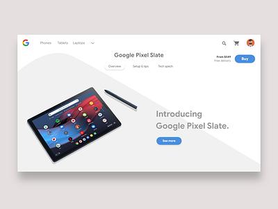 Google Pixel Slate Websites design webdesign google ui design website