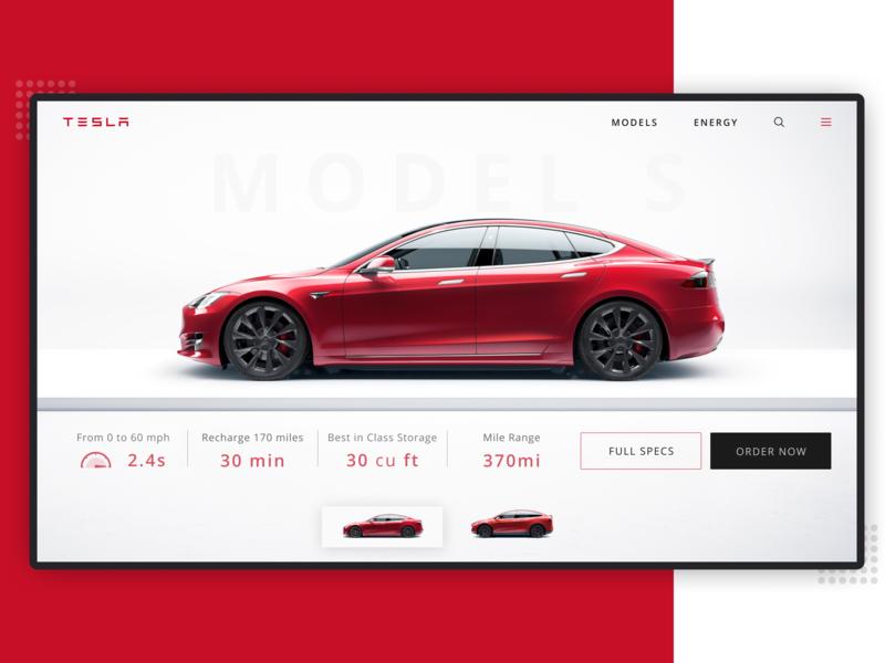 Tesla Website website concept webdeisgn tesla website web minimal debut ux ui hello dribbble design
