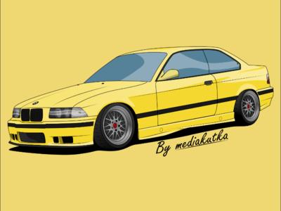 BMW E36 Illustration