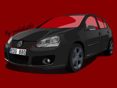 Volkswagen Golf Illustration