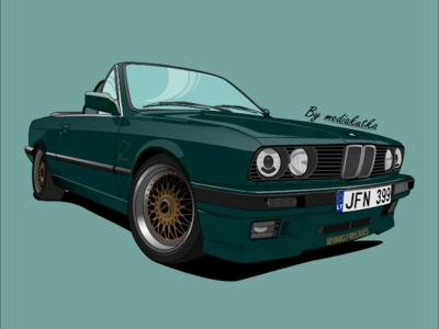 BMW E30 Illustration