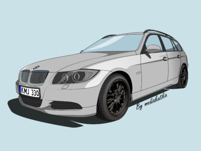 BMW E91 Illustration