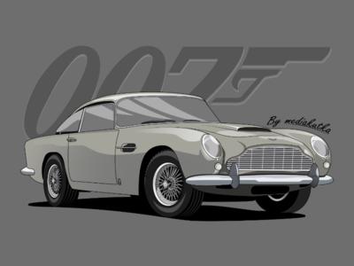 Aston Martin DB5 Illustration