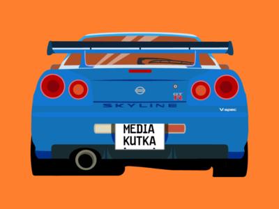 Nissan Skyline R34 Illustration