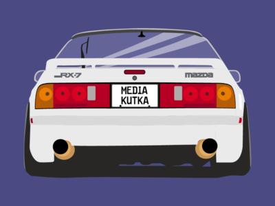 Mazda Rx7 FD illustration
