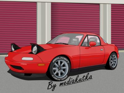 Mazda Miata MX-5 Illiustration