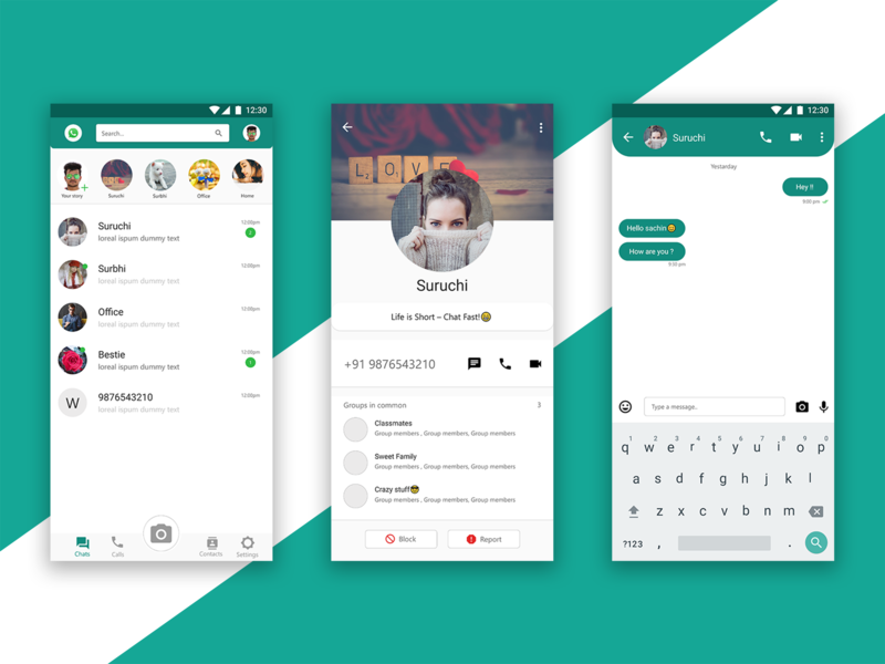 Whatsapp Redesign ui designs ux  ui android design chatting app chat social whatsapp redesign app  design app ui user inteface ux whatsapp