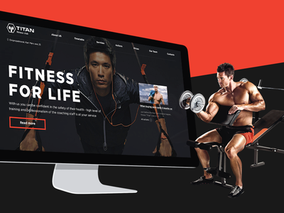 Website Titan GYM site responcive mobile adaptive e-commerce website interface flatdesign design uidesign ux ui