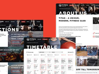 Website GYM Titan site responcive mobile adaptive e-commerce website interface flatdesign design uidesign ux ui