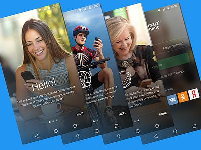 Mobile App Smart24 site responcive mobile adaptive mobileapp app interface flatdesign design uidesign ux ui
