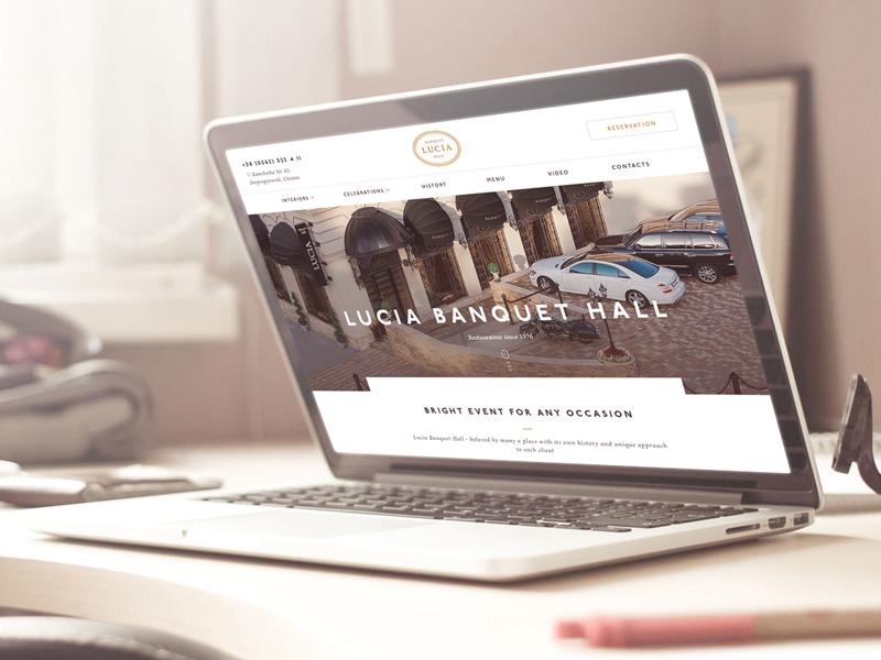 Website Lucia Banquet Hall site responcive mobile adaptive landingpage website interface flatdesign design uidesign ux ui