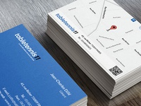 Two sided business card.