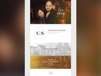 C&S Save The Date Landing Page