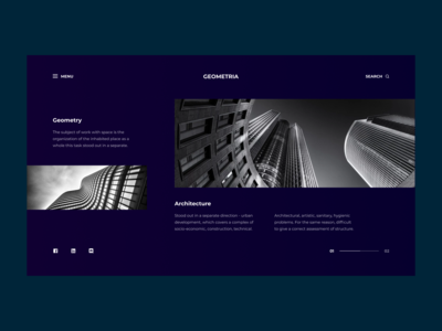 WEBSITE FOR ARCHITECTURAL STUDIO   1 DAY = 1 SITE (CHALLENGE)