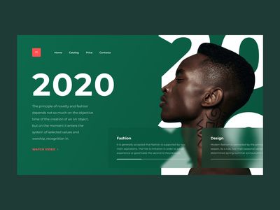 2020 DESIGN OF TRENDS | 1 DAY = 1 SITE (CHALLENGE) illustrations creative website gif mp4 clean typography concept animation webdesign photoshop sketch motion minimalism aftereffects brutalism figma ux ui flat