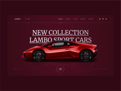 LAMBORGHINI WEBSITE |  DAY = 1 SITE (CHALLENGE)