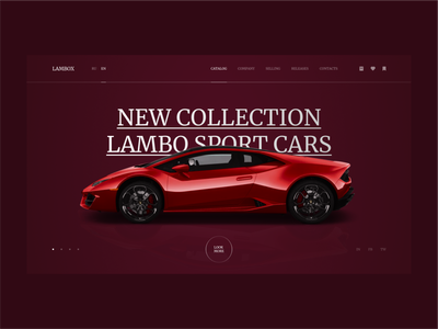 LAMBORGHINI WEBSITE |  DAY = 1 SITE (CHALLENGE) trends 2020 inspiration firstshot landing corporate webdesign black cars motion adobexd figma laguta sketch grid brutalism minimalism dark ui uiux ui flat