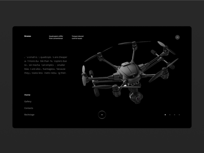 DRONES WEBSITE DARK UI | DAY = 1 SITE (CHALLENGE) aftereffects black  white dark ui photoshop concept website typography flag gif mp4 motion webdesign sketch flat design minimalism brutalism figma uiux ui flat