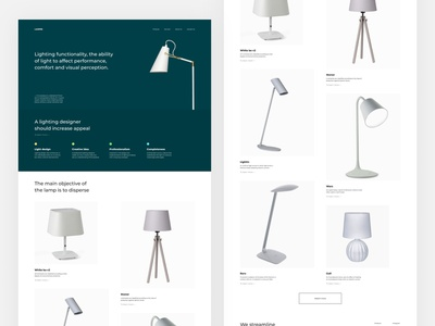 ONLINE STORE FOR OFFICE LIGHTING stores minimal branding clean concept business photoshop aftereffects sketch webdesign minimalism brutalism figma ux ui flat