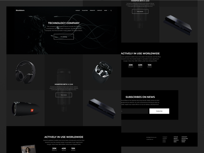 SALE OF ELECTRONIC EQUIPMENT | LANDING black flat design apple iphone tech photoshop aftereffects typography dark ui minimalismus clean webdesign sketch ux minimalism brutalism figma uiux ui flat