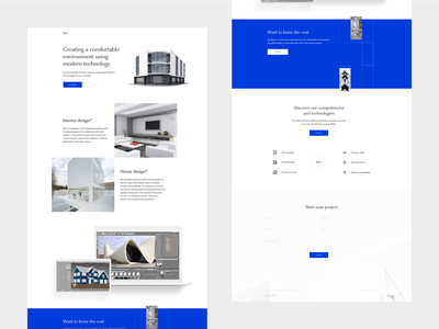 ARCHITECTURAL BUREAU LANDING aftereffects website concept ux website clean uidesign typography motion sketch landingpage webdesign minimalism animation brutalism figma uiux ui flat minimal
