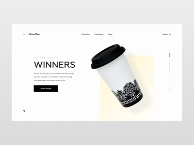 COFFEE HOUSE WEBSITE | LANDING | FEDOROV DESIGN after effects motion graphics clean aftereffects minimalismus brutalism flatdesign typogrhaphy animation minimalism ux sketch website figma corporate landing coffee webdesign uiux ui flat