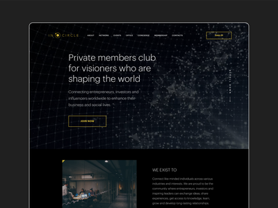 PRIVATE MEMBERS CLUB | CORPORATE | LANDING onepage inspiration awwwards typography website agency business finance corporate landingpage sketch figma brutalism uprock minimalism uiux ui 2020 trend webdesign flat